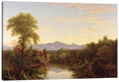 Catskill Creek, New York, 1845  Canvas Art Print