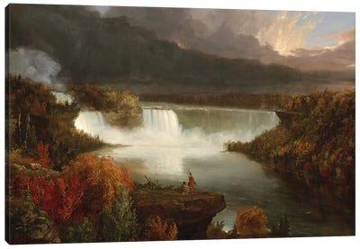 Distant View of Niagara Falls, 1830  Canvas Art Print