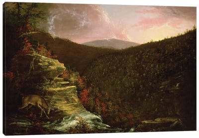 From the Top of Kaaterskill Falls, 1826  Canvas Art Print