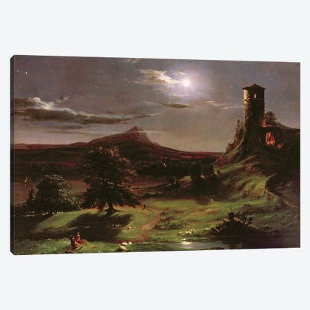 Landscape , c.1833-34  Canvas Print #BMN9826} by Thomas Cole Canvas Artwork