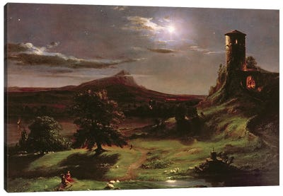 Landscape , c.1833-34  Canvas Art Print