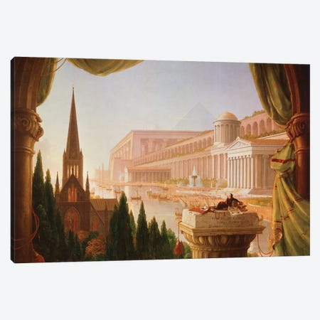 The architect's dream Canvas Print #BMN9827} by Thomas Cole Canvas Art