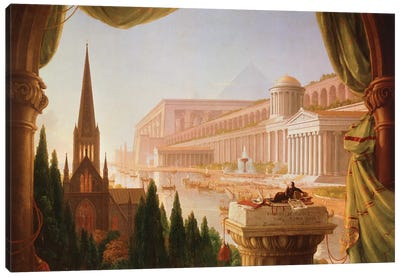 The architect's dream Canvas Art Print