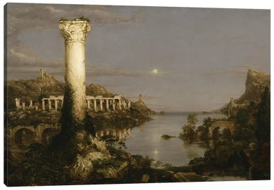 The Course of Empire: Desolation, 1836  Canvas Art Print