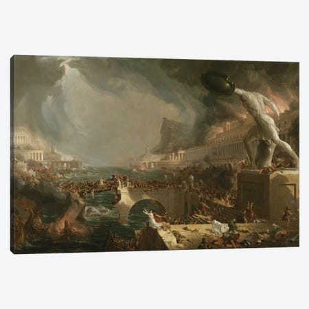 The Course of Empire: Destruction, 1836  3-Piece Canvas #BMN9829} by Thomas Cole Canvas Art Print