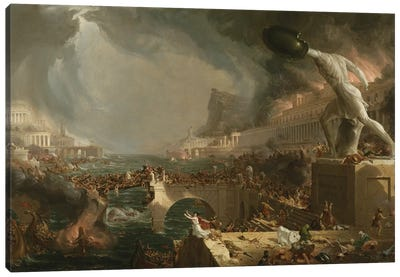 The Course of Empire: Destruction, 1836  Canvas Art Print