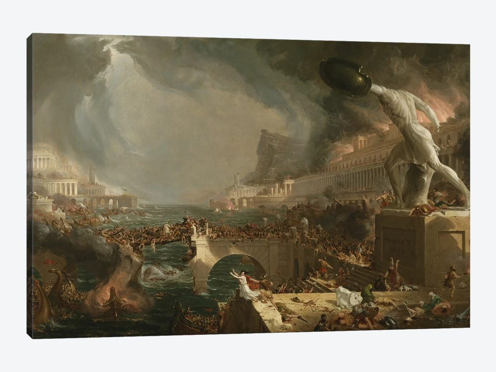 The Course of Empire: Destruction, 1836  by Thomas Cole 1-piece Canvas Wall Art