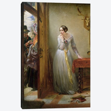 Palpitation, 1844  Canvas Print #BMN982} by Charles West Cope Canvas Art Print