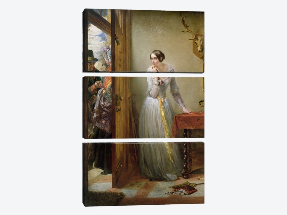 Palpitation, 1844  by Charles West Cope 3-piece Canvas Print