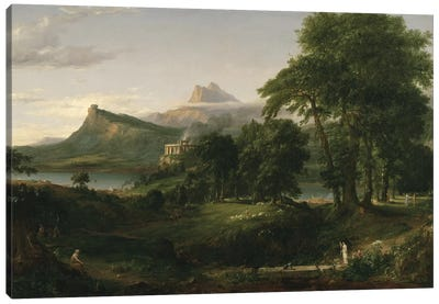 The Course of Empire: The Arcadian or Pastoral State, c.1836  Canvas Art Print