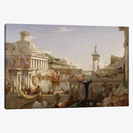 The Course of Empire: The Consummation of the Empire, c.1835-36  Canvas Print #BMN9831} by Thomas Cole Canvas Art