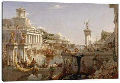 The Course of Empire: The Consummation of the Empire, c.1835-36  Canvas Art Print