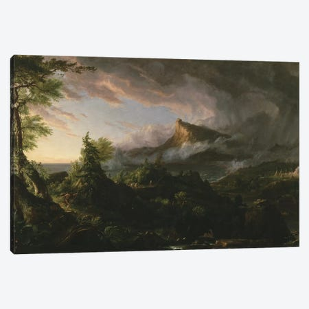 The Course of Empire: The Savage State, 1833-36  Canvas Print #BMN9832} by Thomas Cole Canvas Artwork