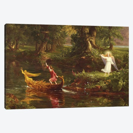 The Voyage of Life: Youth  1842  Canvas Print #BMN9833} by Thomas Cole Canvas Artwork