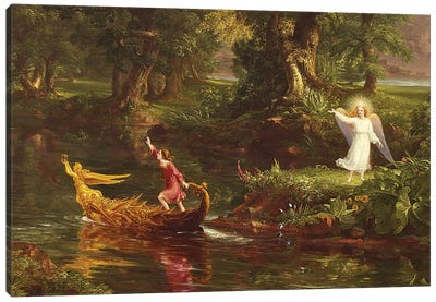 The Voyage of Life: Youth  1842  Canvas Art Print