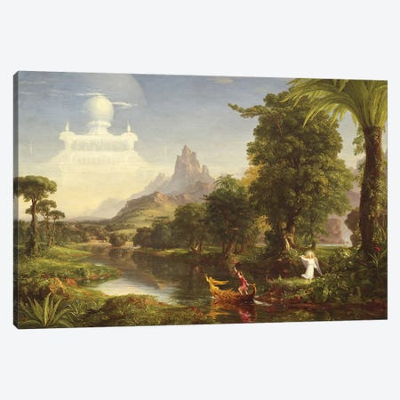 The Voyage of Life: Youth, 1842  Canvas Print #BMN9834} by Thomas Cole Canvas Print