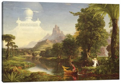 The Voyage of Life: Youth, 1842  Canvas Art Print