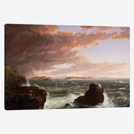 View across Frenchman's Bay from Mt. Desert Island, after a squall, 1845  Canvas Print #BMN9835} by Thomas Cole Canvas Art Print