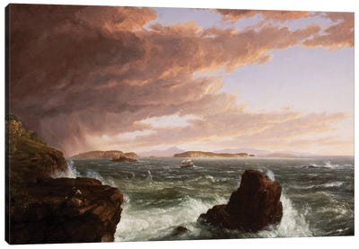 View across Frenchman's Bay from Mt. Desert Island, after a squall, 1845  Canvas Art Print