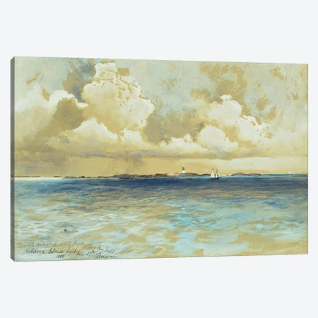 Bahama Island Light, 1883  Canvas Print #BMN9837} by Thomas Moran Canvas Print
