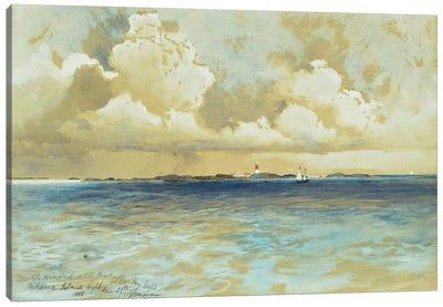 Bahama Island Light, 1883  Canvas Art Print