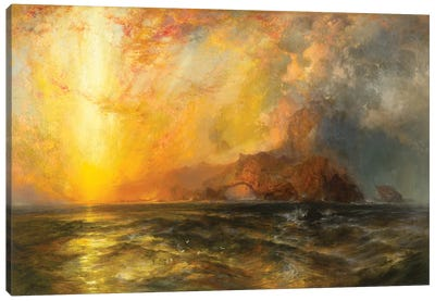 Fiercely the red sun descending/Burned his way along the heavens, 1875-1876  Canvas Art Print