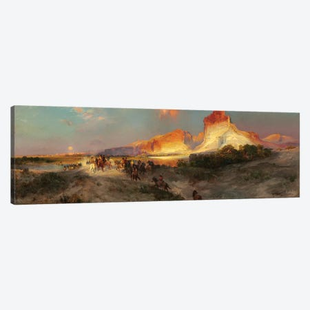 Green River Cliffs, Wyoming, 1881  Canvas Print #BMN9843} by Thomas Moran Canvas Print