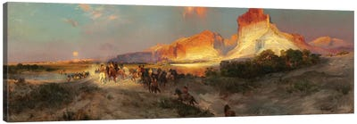 Green River Cliffs, Wyoming, 1881  Canvas Art Print