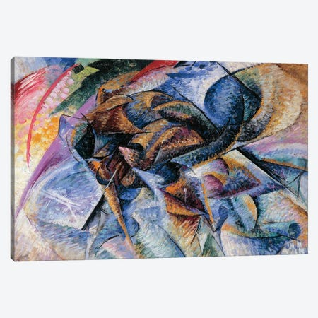 Dynamism of a Cyclist, 1913 Canvas Print #BMN9847} by Umberto Boccioni Canvas Art