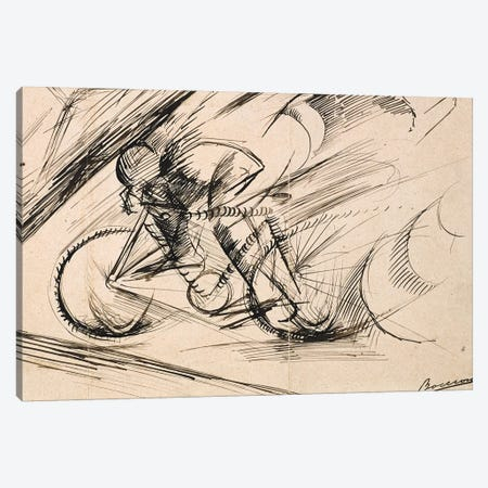 Dynamism of a Cyclist, 1913  Canvas Print #BMN9848} by Umberto Boccioni Canvas Art Print