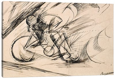 Dynamism of a Cyclist, 1913  Canvas Art Print
