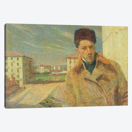 Self Portrait, 1908  Canvas Print #BMN9853} by Umberto Boccioni Canvas Art