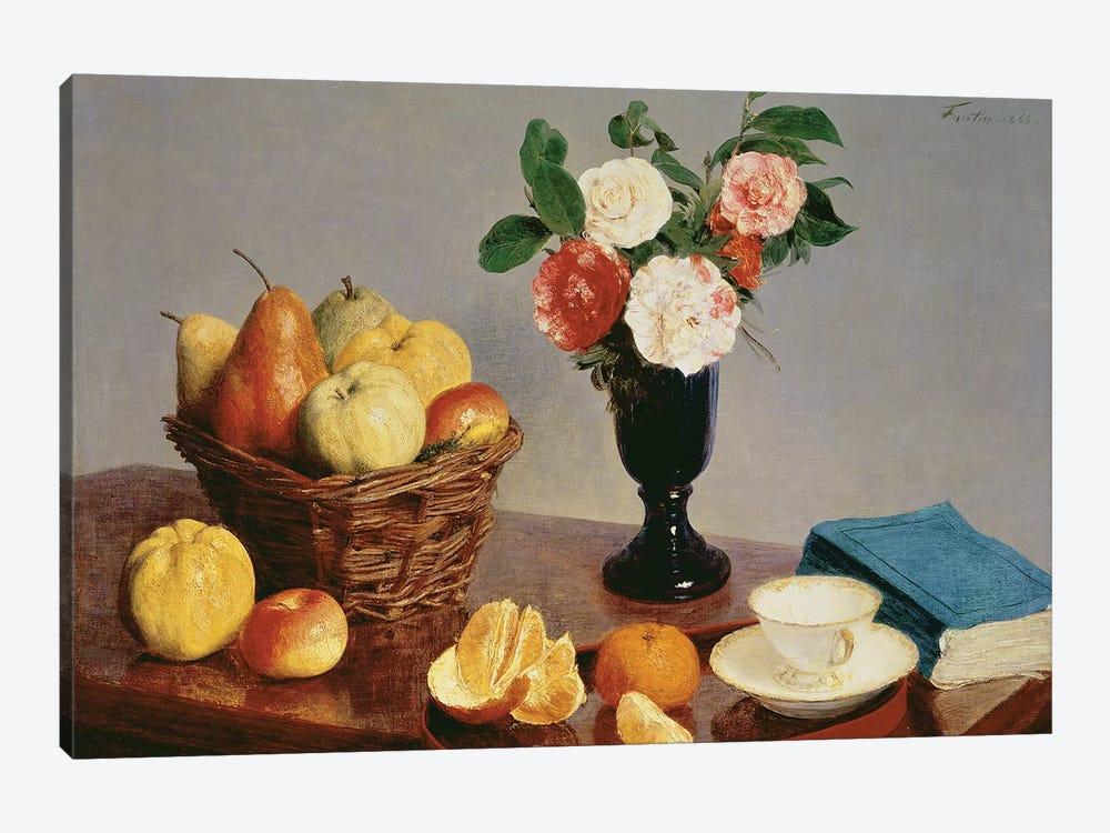 Still Life, 1866  by Ignace Henri Jean Theodore Fantin-Latour 1-piece Canvas Artwork