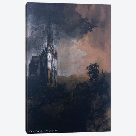 The Castle in the Moonlight  Canvas Print #BMN9861} by Victor Hugo Canvas Print