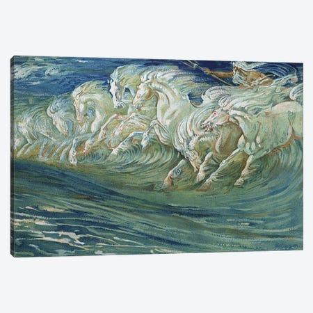 Neptune's Horses, illustration for 'The Greek Mythological Legend', published in London, 1910   Canvas Print #BMN9862} by Walter Crane Art Print