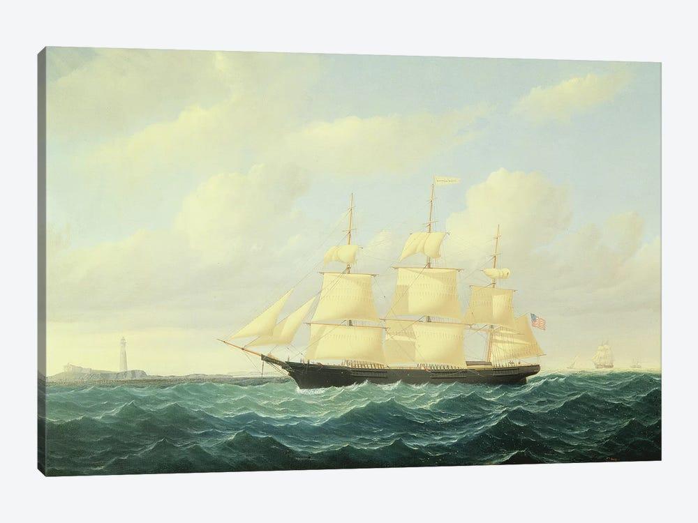 Dashing Wave' clipper ship off Boston Light, 1855  by William Bradford 1-piece Canvas Art
