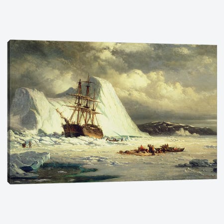 Icebound Ship, c.1880  Canvas Print #BMN9864} by William Bradford Canvas Art