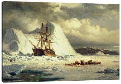 Icebound Ship, c.1880  Canvas Art Print