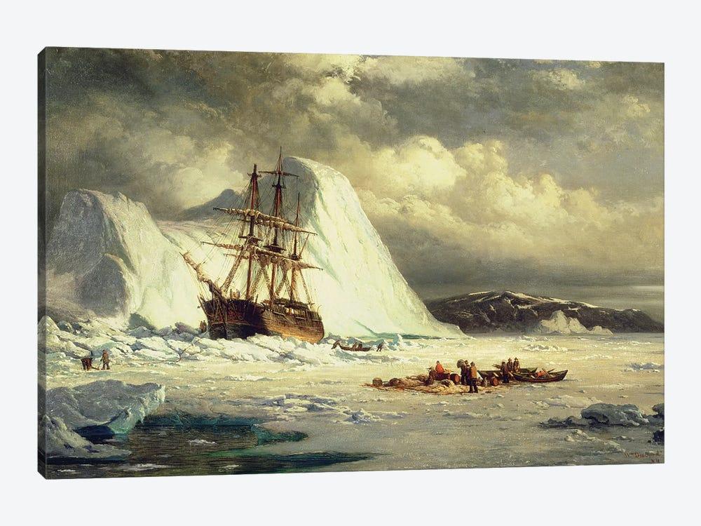 Icebound Ship, c.1880  by William Bradford 1-piece Canvas Art Print