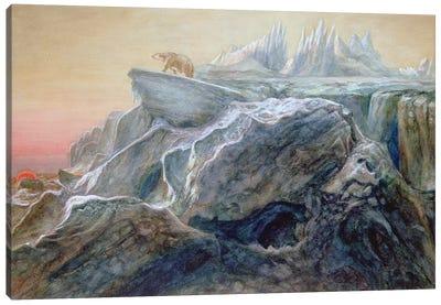Polar Bear on an Iceberg  Canvas Art Print