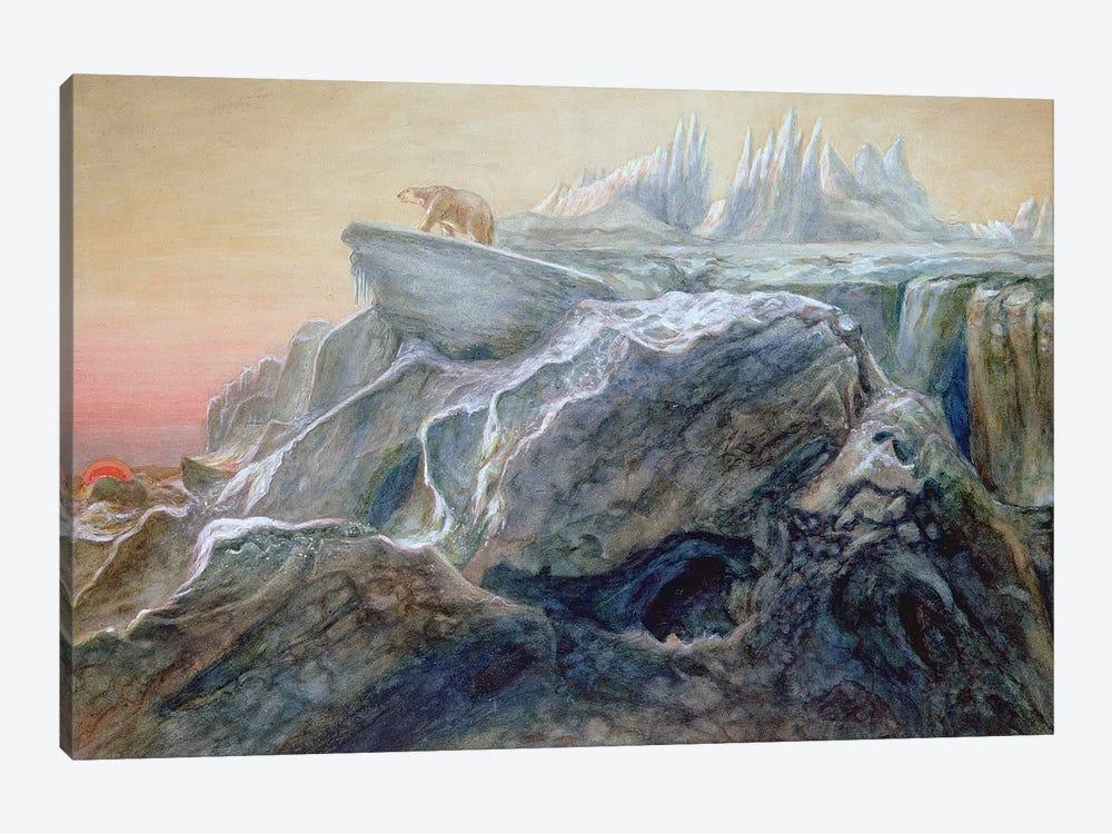 Polar Bear on an Iceberg  by William Bradford 1-piece Canvas Wall Art