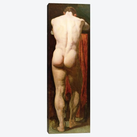Standing Male Nude  Canvas Print #BMN9866} by William Etty Canvas Artwork
