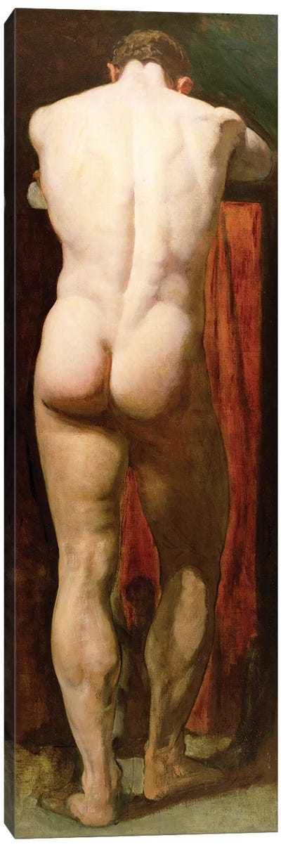 Standing Male Nude  Canvas Art Print