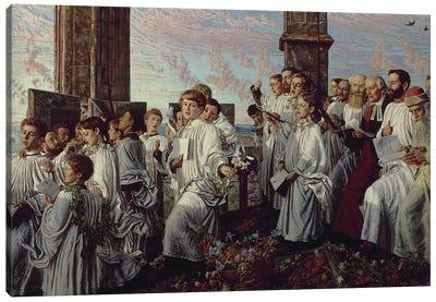 May Morning on Magdalen Tower   Canvas Art Print