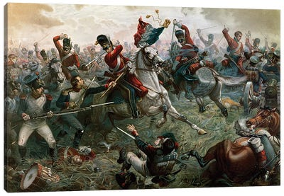 Battle of Waterloo, 18th June 1815, 1898  Canvas Art Print