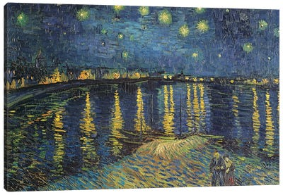Starry Night over the Rhone, 1888  Canvas Art Print