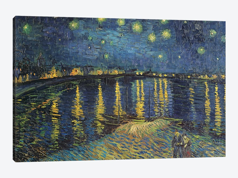Starry Night over the Rhone, 1888  by Vincent van Gogh 1-piece Canvas Print