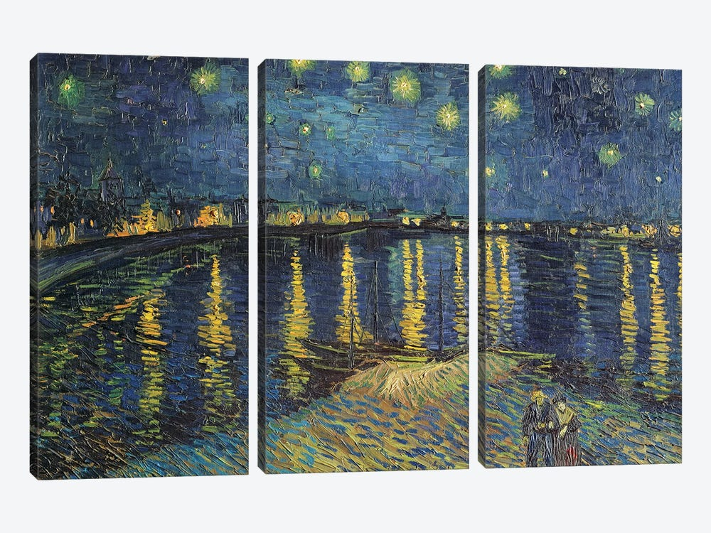 Starry Night over the Rhone, 1888  by Vincent van Gogh 3-piece Art Print