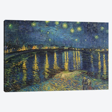 Starry Night over the Rhone, 1888  3-Piece Canvas #BMN986} by Vincent van Gogh Canvas Wall Art