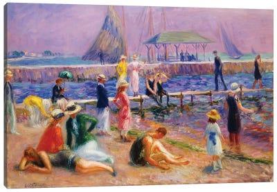 Town Pier - Blue Point, Long Island,  Canvas Art Print